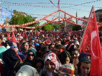 Aksaray'da Cumhurbaşkanı Coşkusu