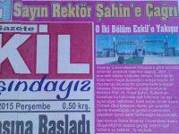 """Eskil Gazetesi'nden Rektör Şahin'e tarihi çağrı """"O bölümler Eskil'e açılsın"""""""