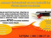 ATSO Üyelerine İndirimli Yüksek Lisans Fırsatı