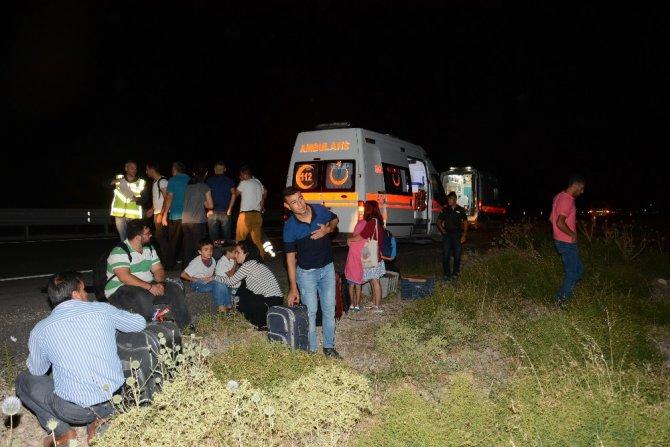 Sürücüsü Beyin Kanaması Geçiren Otobüs Şarampole İndi: 29 Yaralı