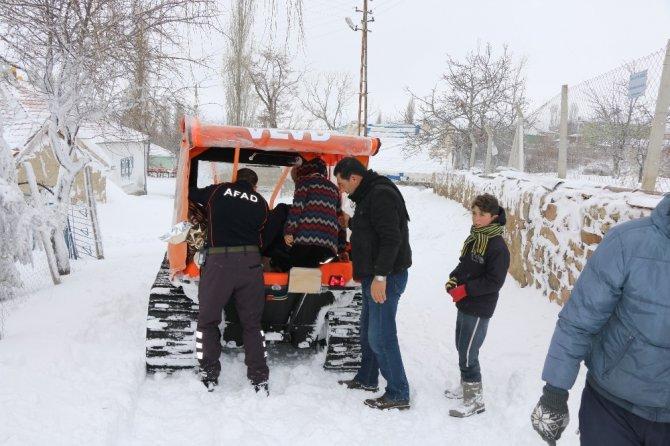 Köyde Mahsur Kalan Hastalara Afad Yetişti