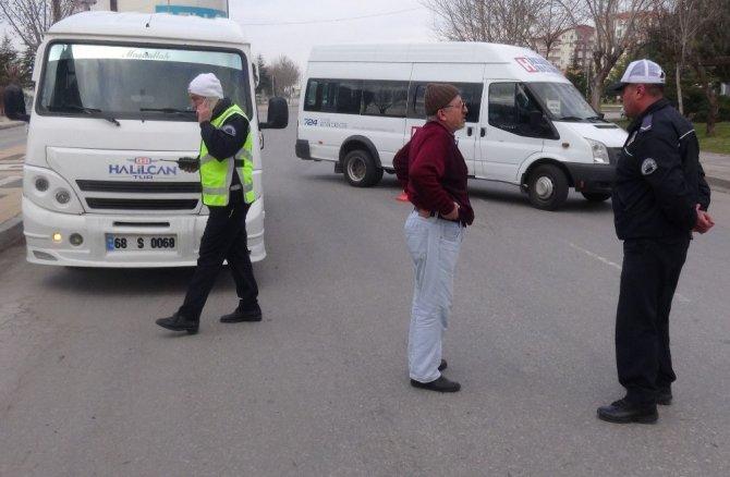 Aksaray'da Toplu Taşıma Araçları Denetlendi