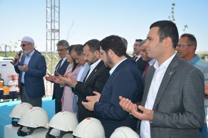 Aksaray'da 200 yataklı ek hastane binasının temeli atıldı
