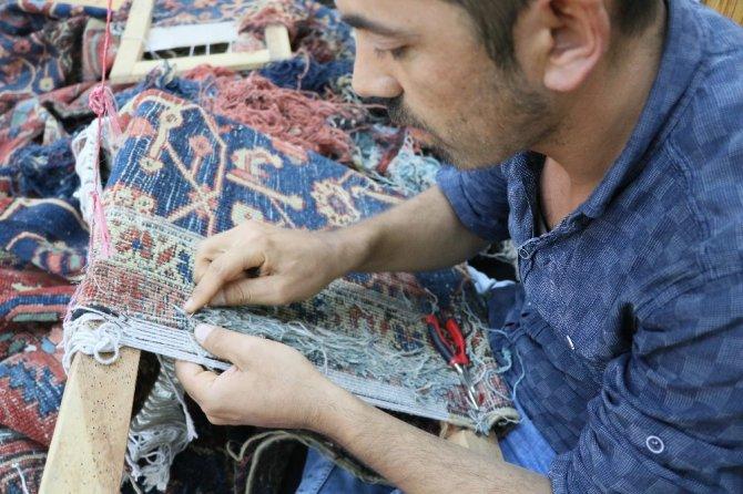 Yüzlerce yıllık tarihi halılar Aksaray'da yeniden hayat buluyor