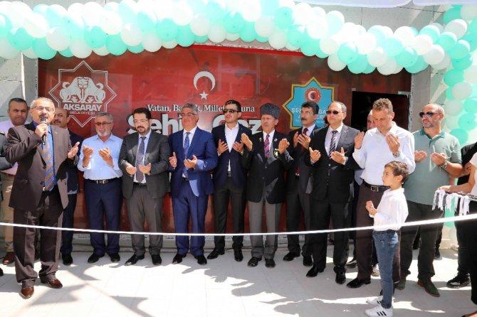 Aksaray'da, Şehit ve Gazi Aileleri Koordinasyon Merkezi açıldı