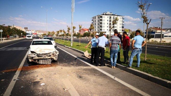 Aksaray'da trafik kazası: 1 yaralı