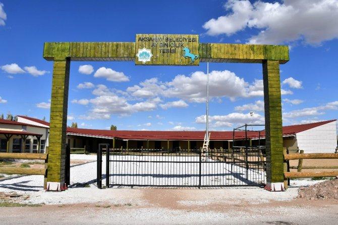 Aksaray'a at binicilik tesisi yapıldı