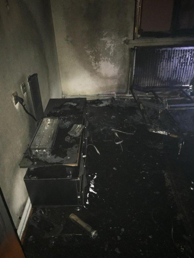 Aksaray'da apartmanda yangın paniği