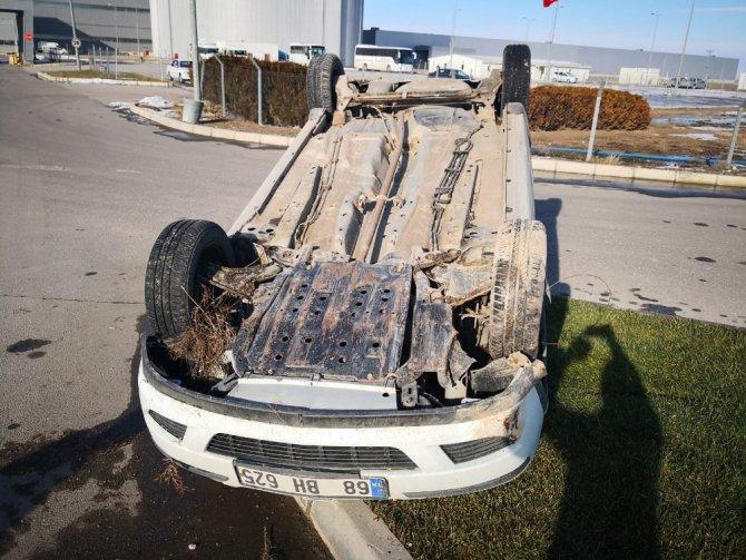 Aksaray'da otomobil takla attı: 1 yaralı