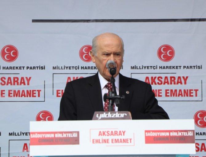 """MHP lideri Bahçeli: """"CHP, PKK'nın kuyruğuna takılmış, FETÖ'nün vagonu olmuştur"""""""