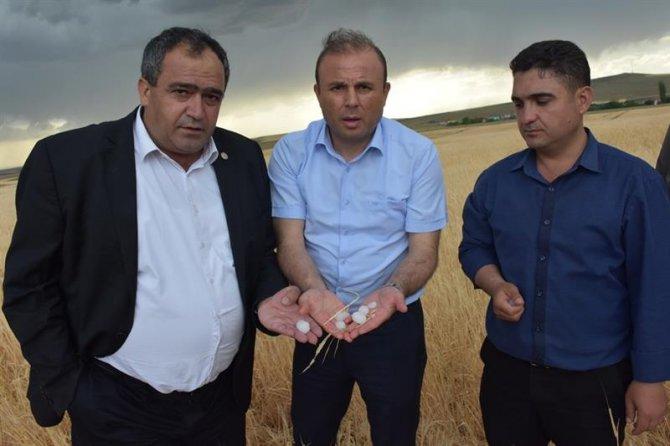 Aksaray'da dolu tarım arazilerine zarar verdi
