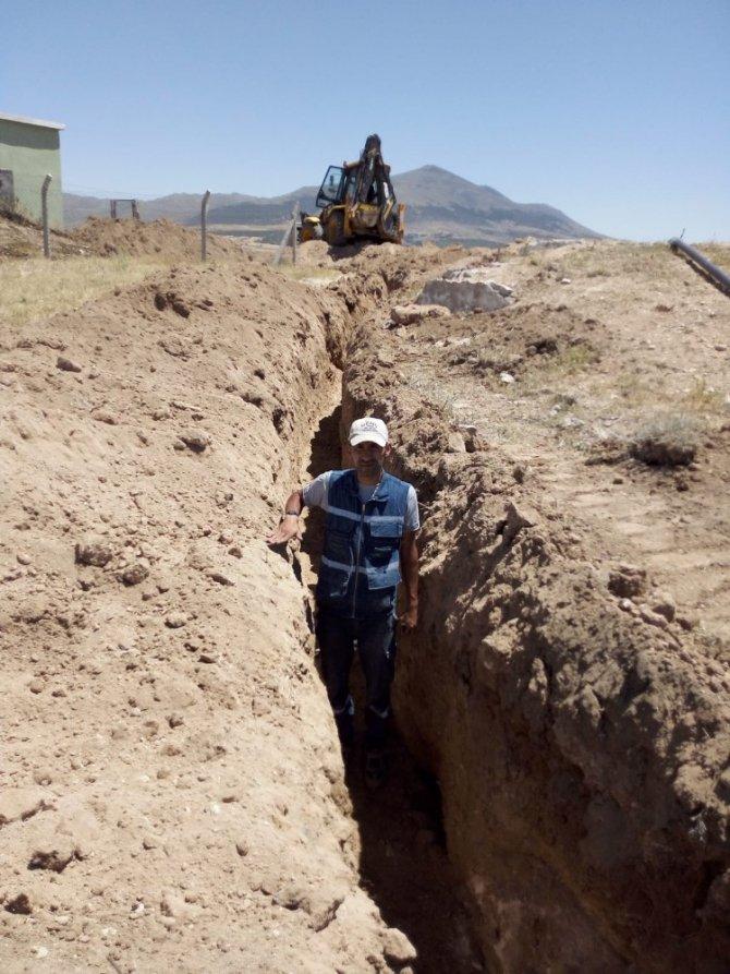 Aksaray'da 2 köyün içme suyu hattı yapım işi tamamlandı