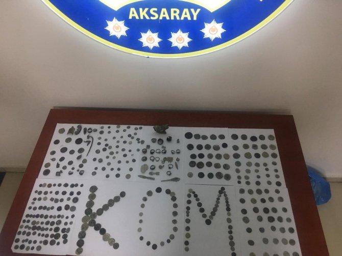 Aksaray'da 381 adet tarihi eser ele geçirildi: 5 gözaltı