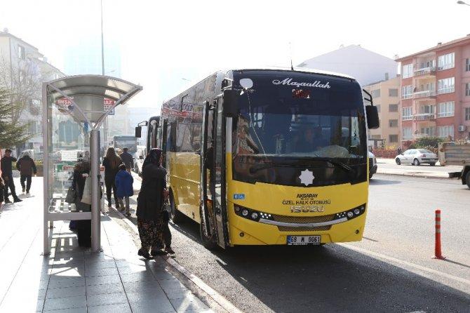 Aksaray'da OSB'ye halk otobüsü seferleri başladı