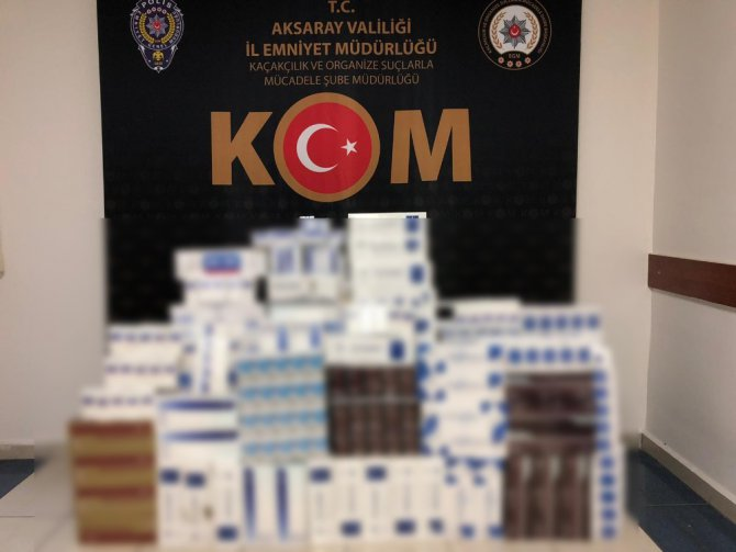 Aksaray'da bin 500 paket kaçak sigara ele geçirildi