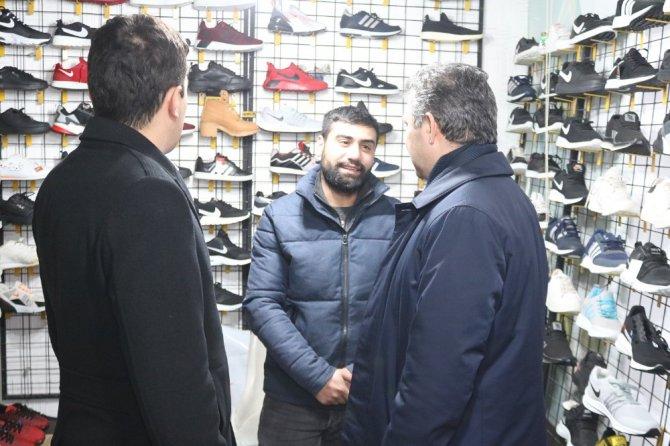 AK Parti İl Başkanı Altınsoy esnafı ziyaret etti