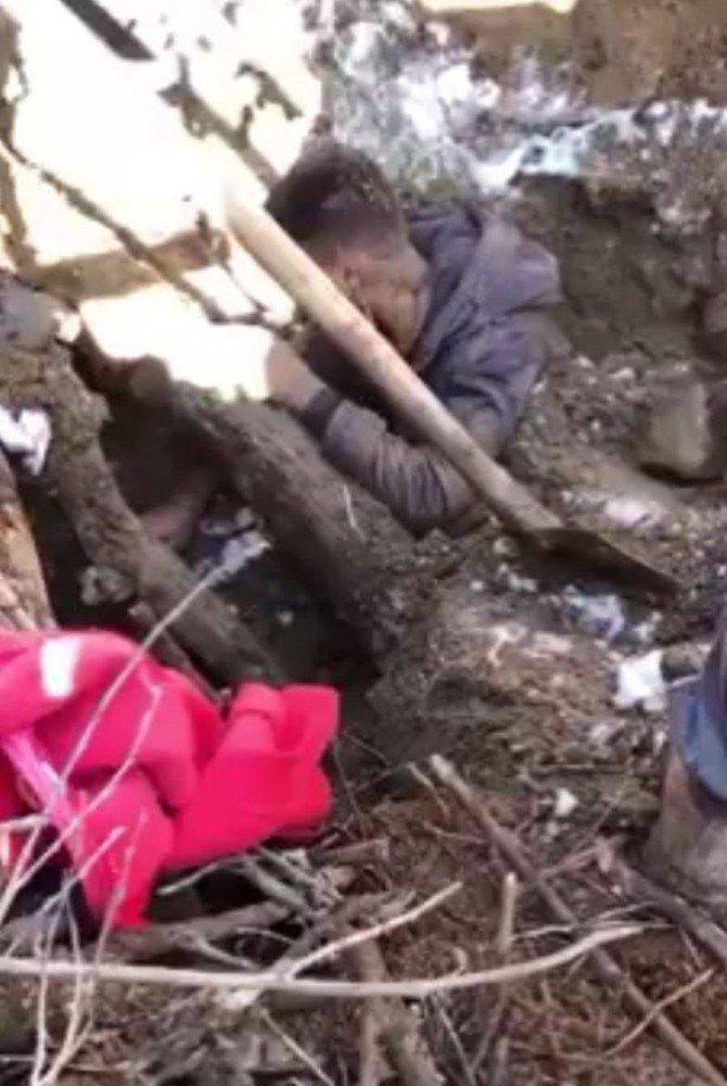 Aksaray'da 22 yaşındaki genç çöken müştemilatta göçük altında kaldı