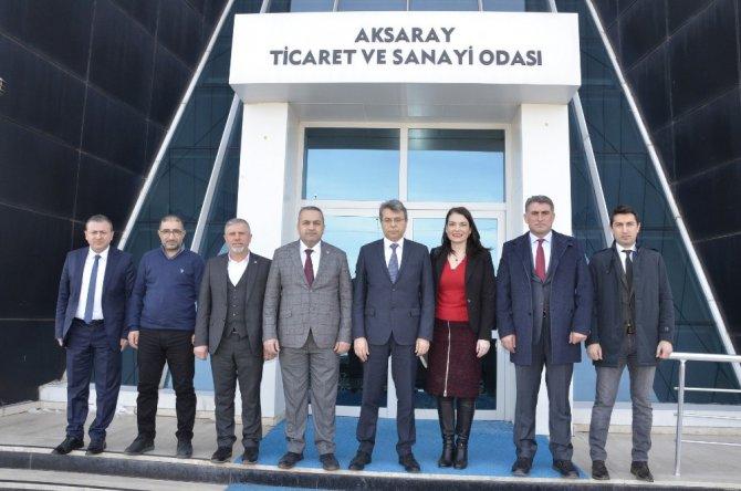 Aksaray'ın dev yatırımcıları demiryolu için ATSO'da buluştu