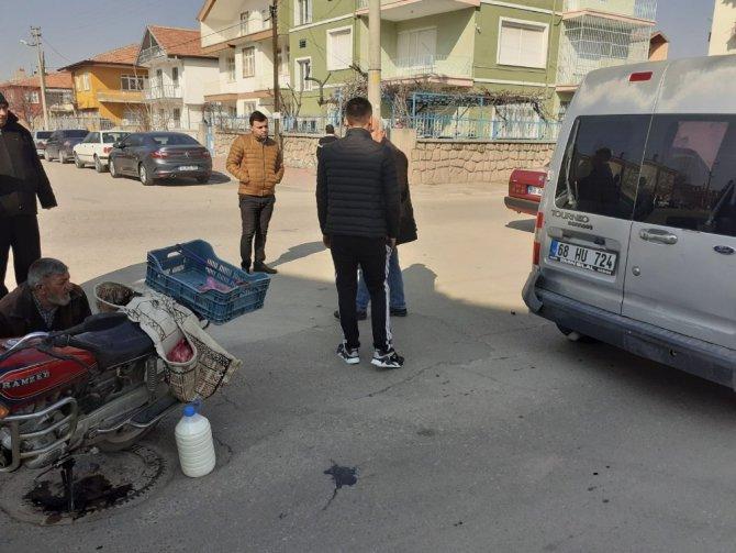 Aksaray'da motosiklet kamyonete çarptı: 1 yaralı