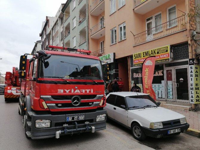 Aksaray'da baca yangını