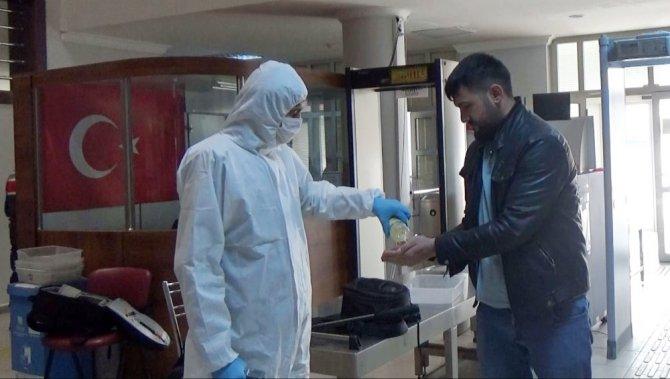 Aksaray Adliyesinde korona virüse karşı etkin mücadele