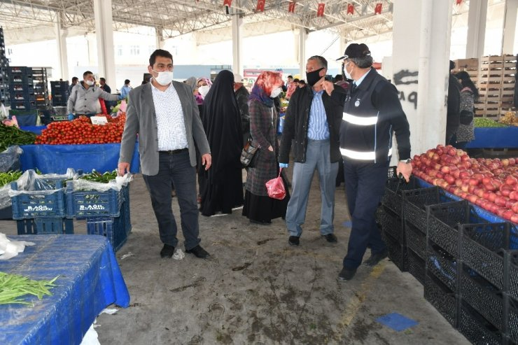 Aksaray'da semt pazarlarına denetim