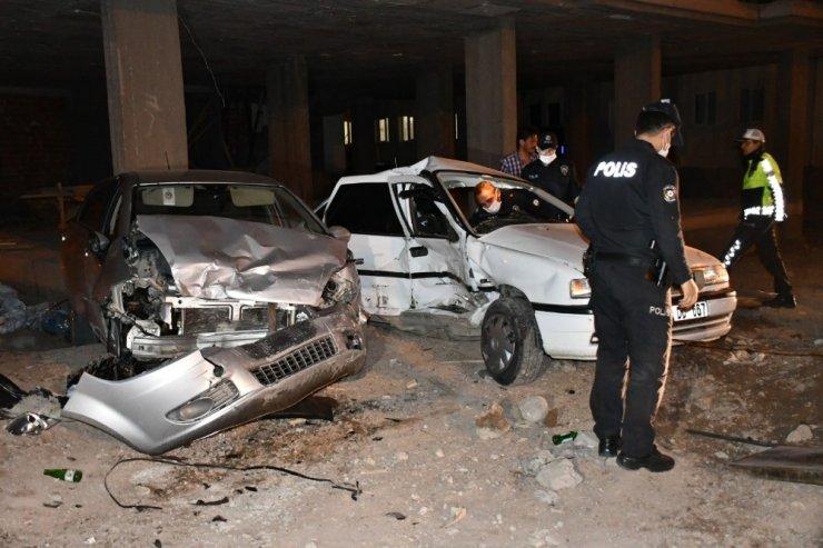 Polis şüpheli kovalamacasında kaza: 3'ü polis 5 yaralı