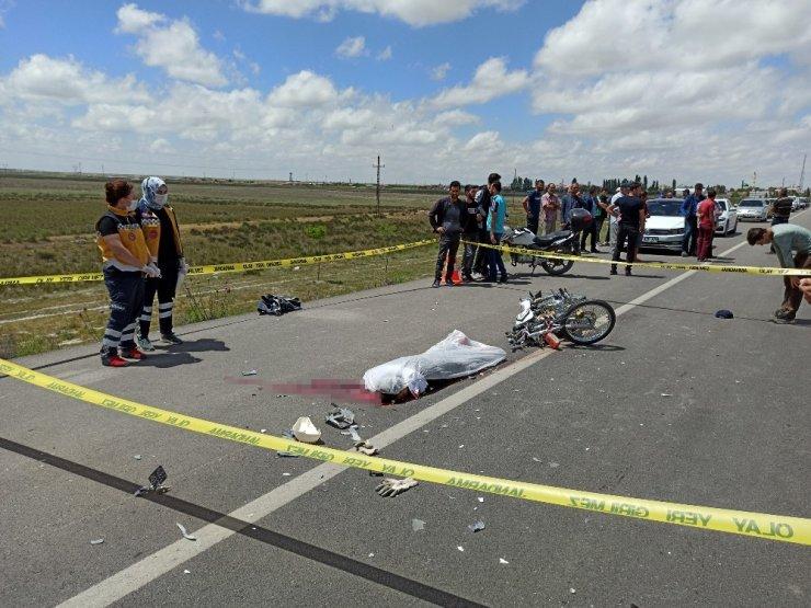Aksaray'da motosiklet traktöre bağlı tarım makinesine çarptı: 1 ölü