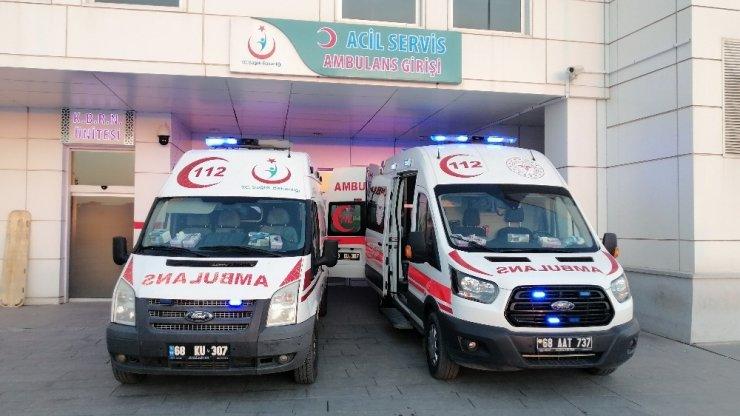 Aksaray'da trafik kazası: 2'si çocuk 6 yaralı