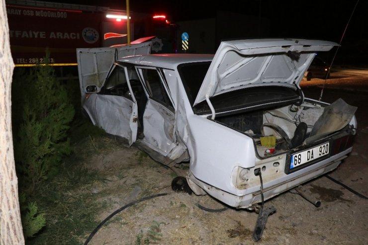 İşçi servis minibüsü ile otomobil çarpıştı: 6 yaralı
