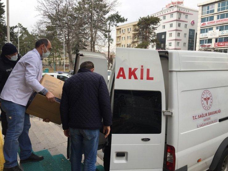 Kayseri'de korona virüs aşıları hastanelere dağıtılmaya başlandı