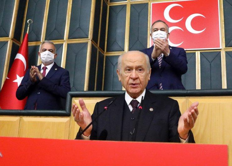 """MHP lideri Bahçeli: """"Türkiye düşmanları erken seçim safında birleşmiş, şakşakçılık yapıyor, zillete refakat ediyor"""""""