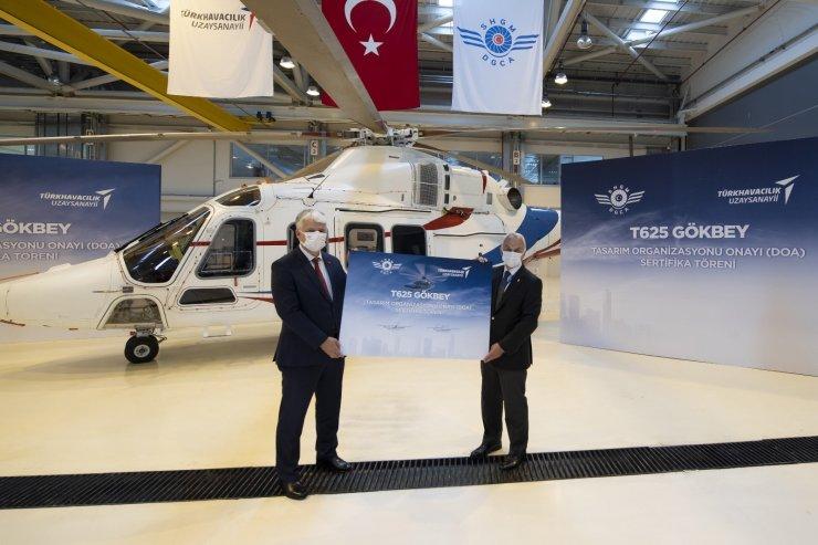 """Milli helikopter Gökbey'e """"Tasarım Organizasyonu Onayı"""" sertifikası"""