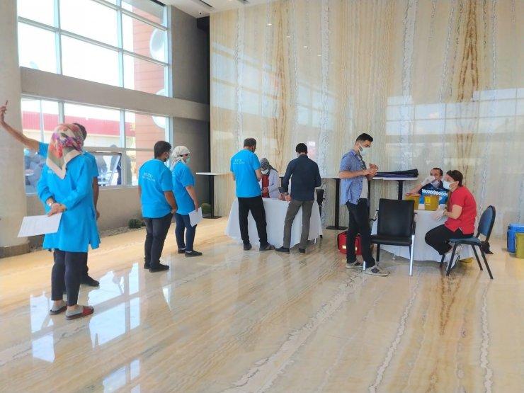 Kayseri Serbest Bölge'de aşı merkezi kuruldu