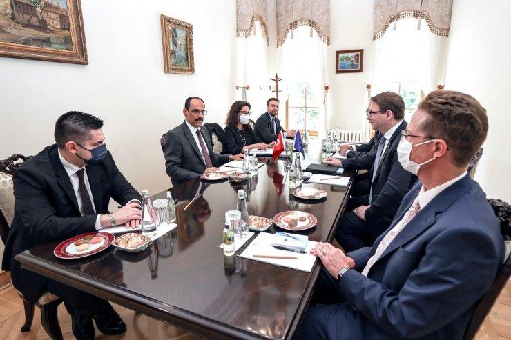 Cumhurbaşkanlığı Sözcüsü Kalın, AB Komisyonu Kabine Şefi Seibert ile görüştü