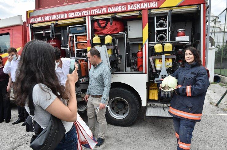 Ankara İtfaiyesi yeni itfaiyecilerini yetiştiriyor