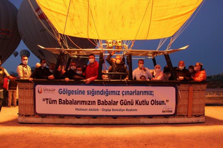 Kapadokya'da Babalar Günü gökyüzünde kutlandı