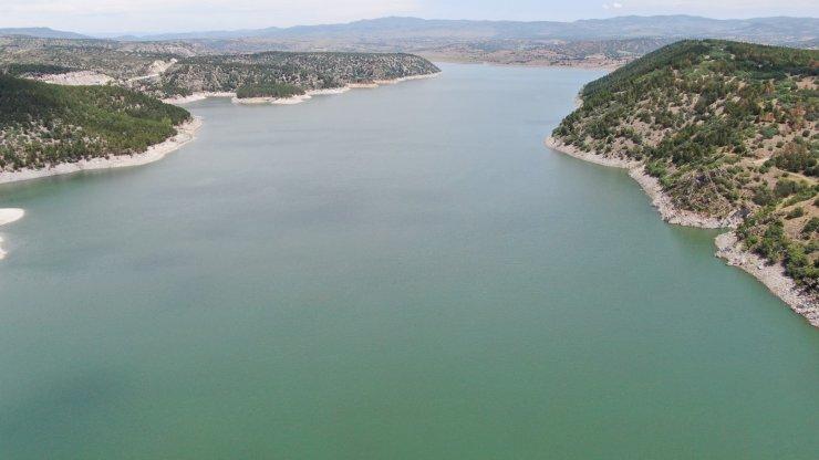 Ankara barajlarının doluluk oranı havadan görüntülendi
