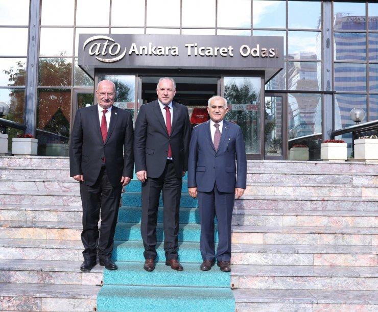 Kosova Bölgesel Kalkınma Bakanı Damka'dan ATO Başkanı Baran'a ziyaret