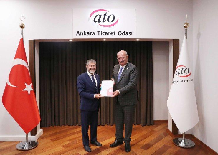 ATO Başkanı Baran, Hazine ve Maliye Bakan Yardımcısı Nureddin Nebati'yi konuk etti