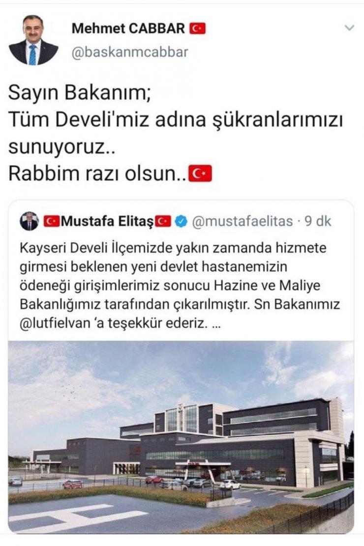 Cabbar ve Turan'dan 'hastane' teşekkürü