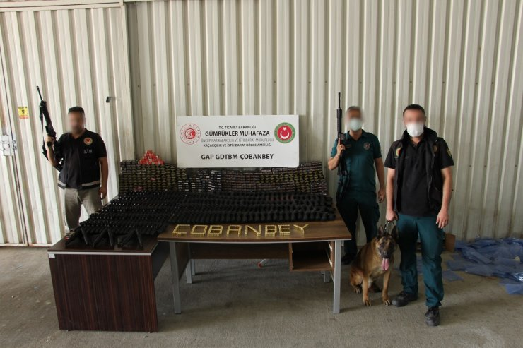 Gümrük Muhafaza ekiplerince, Çobanbey'de 270 adet kurusıkı tabanca ele geçirildi