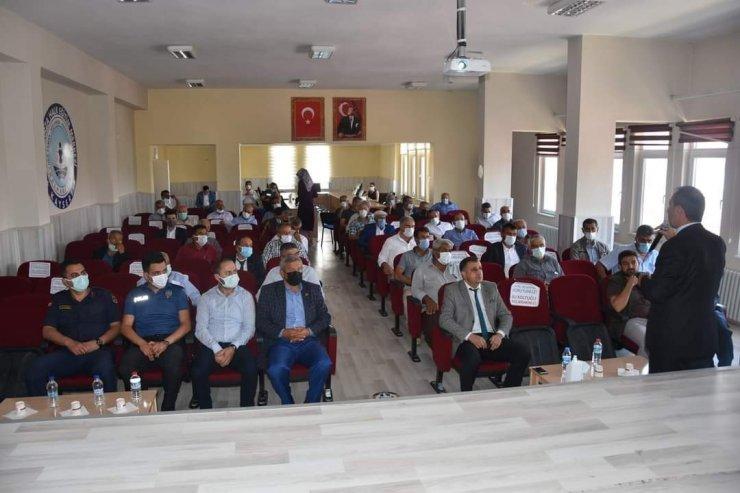 Tomarza'da Haziran ayı muhtarlar toplantısı yapıldı