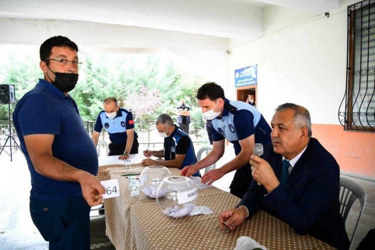 Mamak'ta kurban pazarı için kuralar çekildi