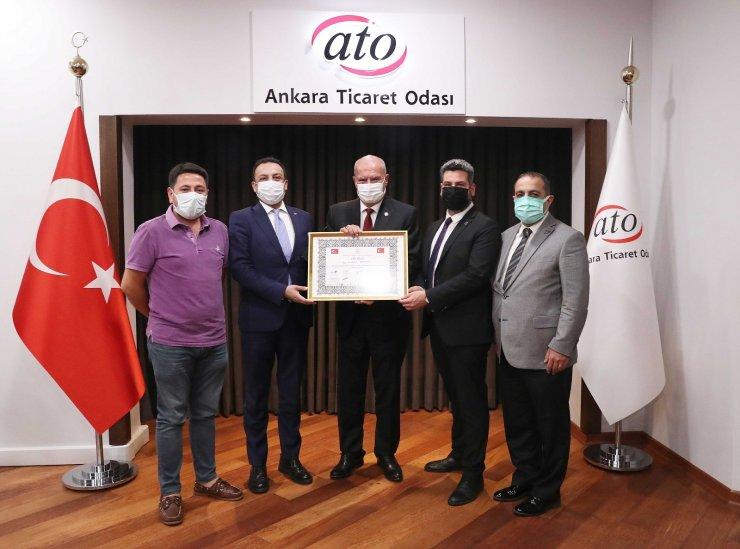 Ankara Sivil Toplum Kuruluşları Platformu'dan ATO Başkanı Baran'a 'Vefa Beratı'