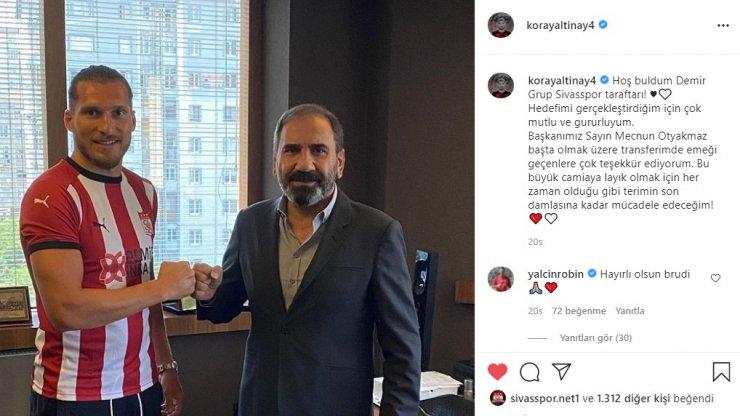 """Sivasspor'un yeni transferi Koray: """"Büyük bir camiaya geldim"""""""