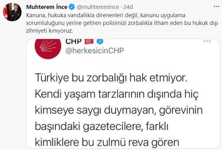 İçişleri Bakan Yardımcıları İnce ve Erdil'den CHP'ye tepki
