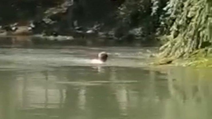 Kızılırmak'ta sürüklenen şahıs boğulmaktan son anda kurtarıldı, o anlar kamerada