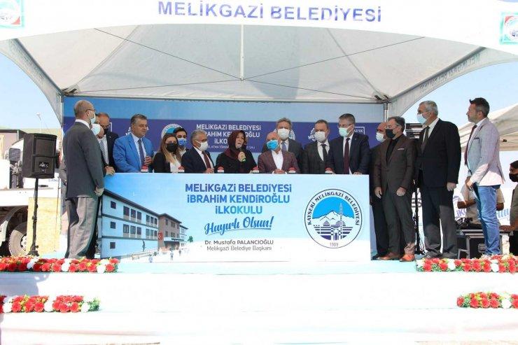 Melikgazi'de İbrahim Kendiroğlu İlkokulu'nun Temeli Atıldı